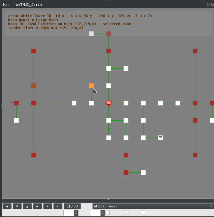 Image of 2D mapper with one room selected